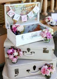 vintage wedding decor 40 ways to use vintage suitcases in your wedding decor happywedd