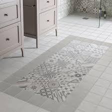 poser credence cuisine carrelage sol et mur gris decor elliot 15x15 cm à poser comme