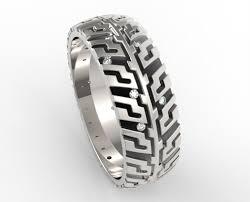 tire wedding rings men s tire tread diamond wedding band unique design vidar