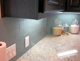 glass backsplash tile blue glass tile backsplash kitchen with