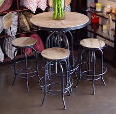 metal bar table set elegant round industrial bar pub table metal and wood dining tables