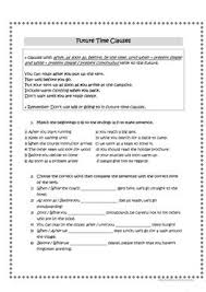 13 free esl time clauses worksheets