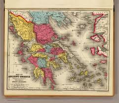 Map Of Ancient Greece Ancient Greece David Rumsey Historical Map Collection