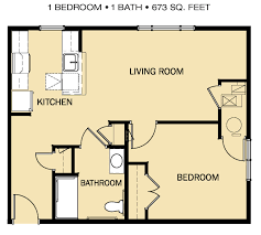 Railroad Apartment Floor Plan by Freedom Village