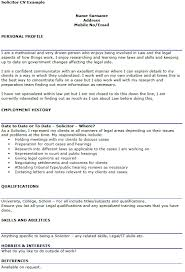 solicitor cv example u2013 cover letters and cv examples