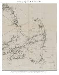 old map of cape cod 1881 surveying