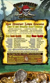 menu shipwreck bar u0026 grille