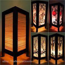 Bamboo Desk Lamp Asian Lamps Ebay