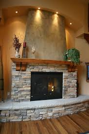 fantastic stacked stone fireplace twuzzer