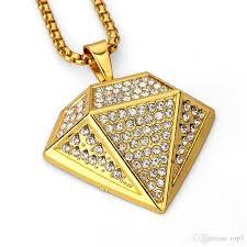 hip hop necklace pendants images Wholesale 2018 18k gold plated full diamond hip hop necklace jpg