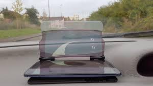 si e voiture du hudway glass un affichage tête haute automobile sur smartphone