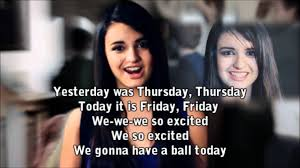 friday rebecca black rebecca black friday karaoke with background vocals lirycs