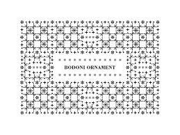 bodoni ornament on student show