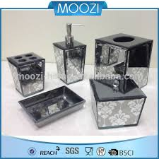 Glass Bathroom Accessories by Crackle Glass Bathroom Accessory Crackle Glass Bathroom Accessory