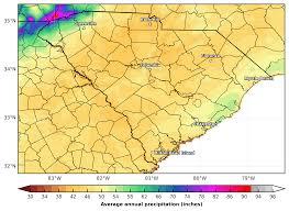 Southeast Usa Map by Prism Precipitation Maps For The Southeast U S Southeast