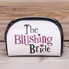 Bridal Makeup Bags Bright Side Blushing Bride Make Up Bag Bridal Makeup Wedding