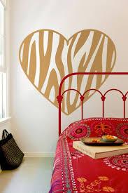 110 best wall art images on pinterest designer wallpaper larg zebra print heart wall decal heart bedroom decor vinyl wall decal 35 00 gbp