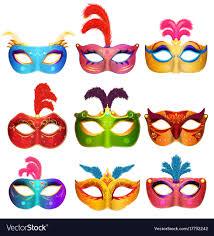 carnival masks mardi gras venetian handmade carnival masks vector image