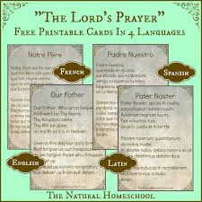 the lord u0027s prayer words in spanish latin english and french