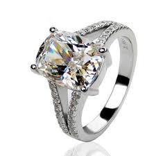 5 Carat Cushion Cut Engagement Rings All Sizes 4 5 5 6 7 8 Vvs1 3ct Band Wedding Bridal Engagement Set