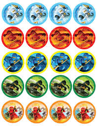 ninjago cake toppers instant dl ninjago stickers cupcake toppers 2 inch circles