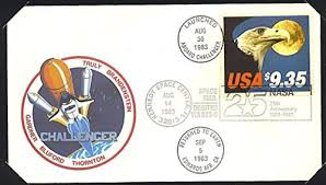 challenger sts 8 flight cover usps nasa 1983 fdc flown