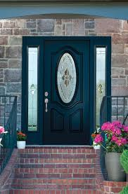 Clear Glass Entry Doors by Wooden Entry Door With Oval Glass Plus Side Light With Front Door