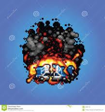 pixel art car police car explosion vector pixel art style illustration stock