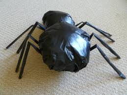 black 50 inch posable spider spider halloween decorations in