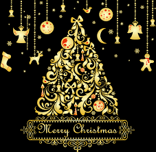 large transparent gold tree with ornaments png clipart