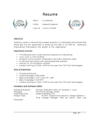 Sample Resume For One Year Experienced Software Engineer by Ccna Resume Resume Cv Cover Letter