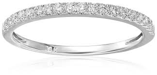 gold diamond wedding band 14k white gold diamond micro pave wedding band 1 4cttw h i