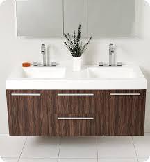Bathroom Vanity Medicine Cabinet by 54 U201d Fresca Opulento Fvn8013gw Walnut Modern Double Sink Bathroom