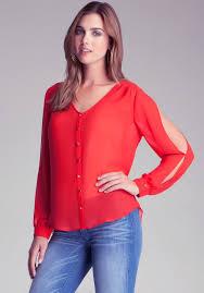 bebe blouses lyst bebe shirt blouse in