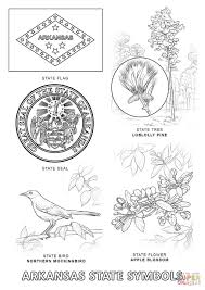 arkansas state symbols coloring page free printable coloring pages