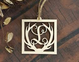 antler ornament etsy