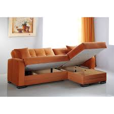 sofa with reversible chaise lounge kubo rainbow orange sectional sofa by sunset