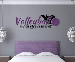 Decoration Wall Decals For Teens by Volleyball Sports Vinyl Decal Wall Stickers Words Letters Teen