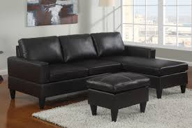 small espresso faux leather sectional sofa with ottoman lowest