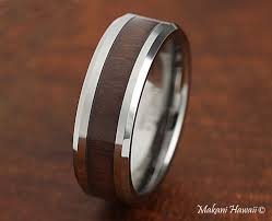 simple mens wedding bands tungsten wood inlaid mens wedding band 8mm makani