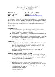 good examples of skills and abilities for resume example skills