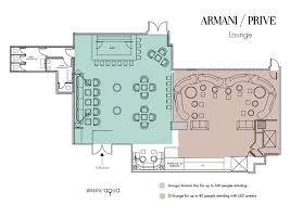 armani privé glamorous rooftop terrace bar and lounge club