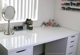 Upcycled Vanity Table 7 Ikea Inspired Diy Makeup Storage Ideas