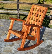 Wooden Rocking Chair Outdoor Wooden Lighthouse Rocking Chair With Comfortable Deep Seat