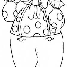 this coloring page features a fun looking clown with a big smile