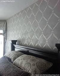 Decorative Wall Stencils Wall Stencils Ideas For Dreamy Romantic Bedroom Decor Wall