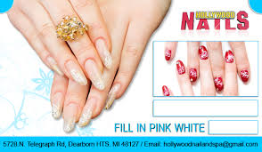 fill in pink white coupon hollywood nails telegraph rd