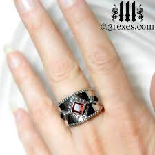 gothic finger rings images 3 wishes medieval silver wedding ring jpg