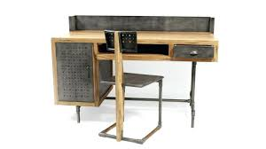 bureau metal et bois bureau bois et metal bureau belfast de style industriel en bois et