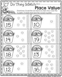 collection of solutions kindergarten place value worksheets in